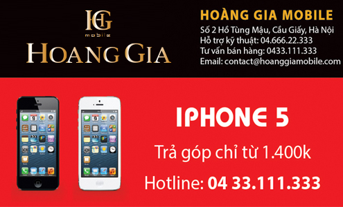 Tra gop iphone 5
